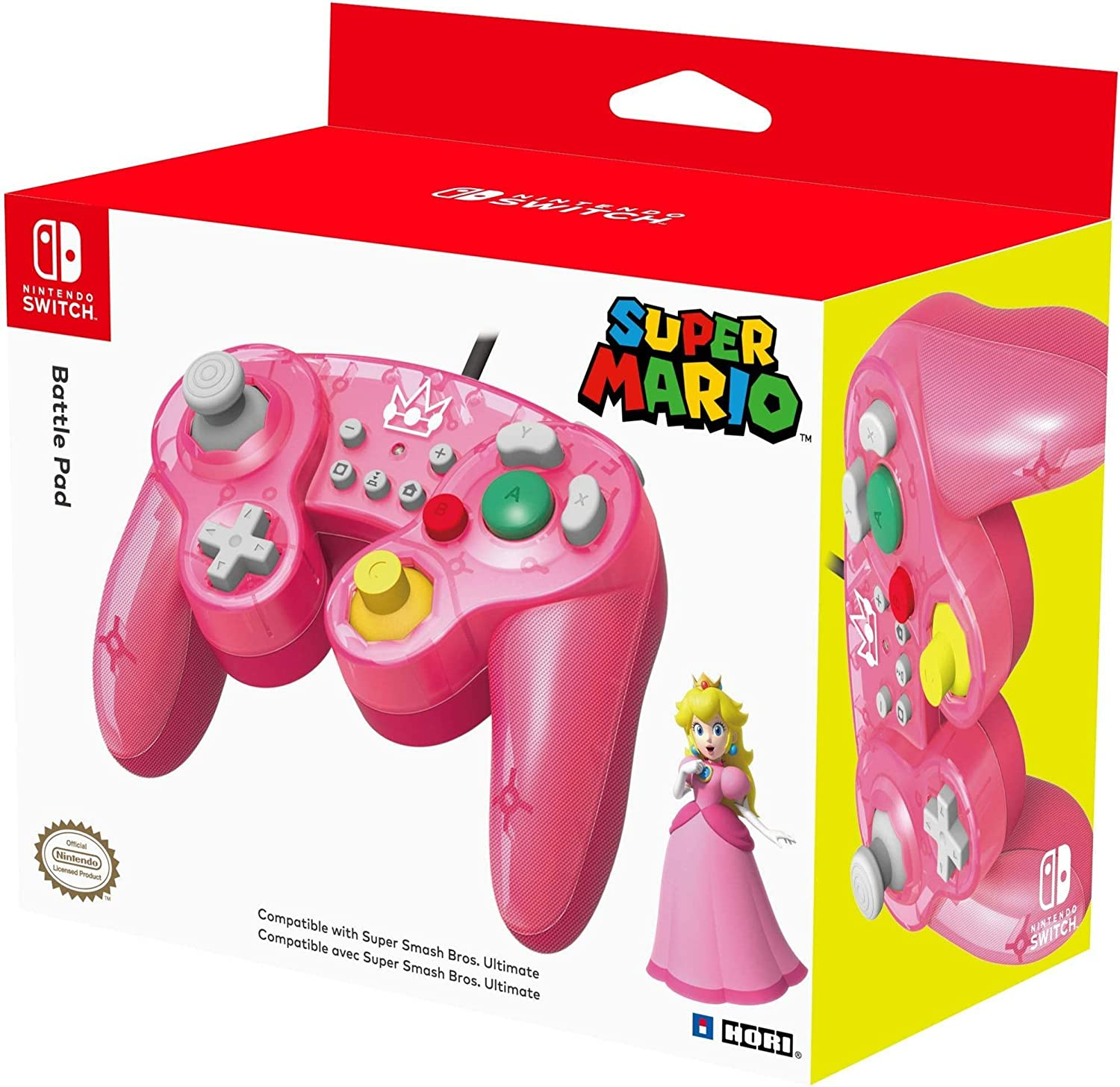 HORI - Battle Pad Peach (Nintendo Switch): Amazon.es: Videojuegos