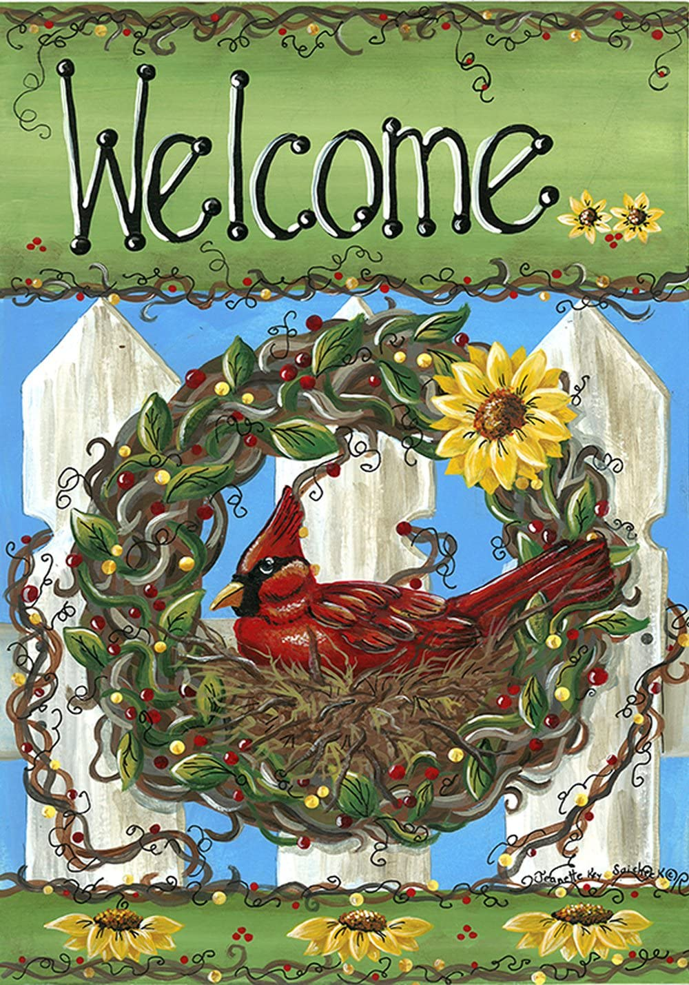 Toland Home Garden 102537 Welcome Nest 28 x 40 Inch Decorative, House Flag (28