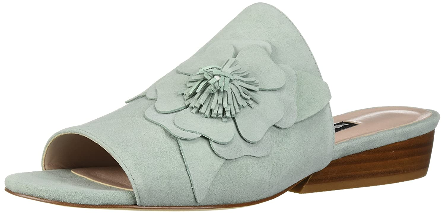 Nine West Women's Lucienne Suede Slide Sandal B074PXV91H 9.5 B(M) US|Light Green Suede