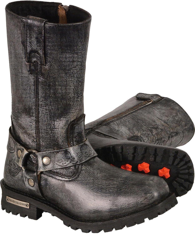 Mbm9006 Milwaukee Leather Mens 11 Classic Harness Boot Square Toe