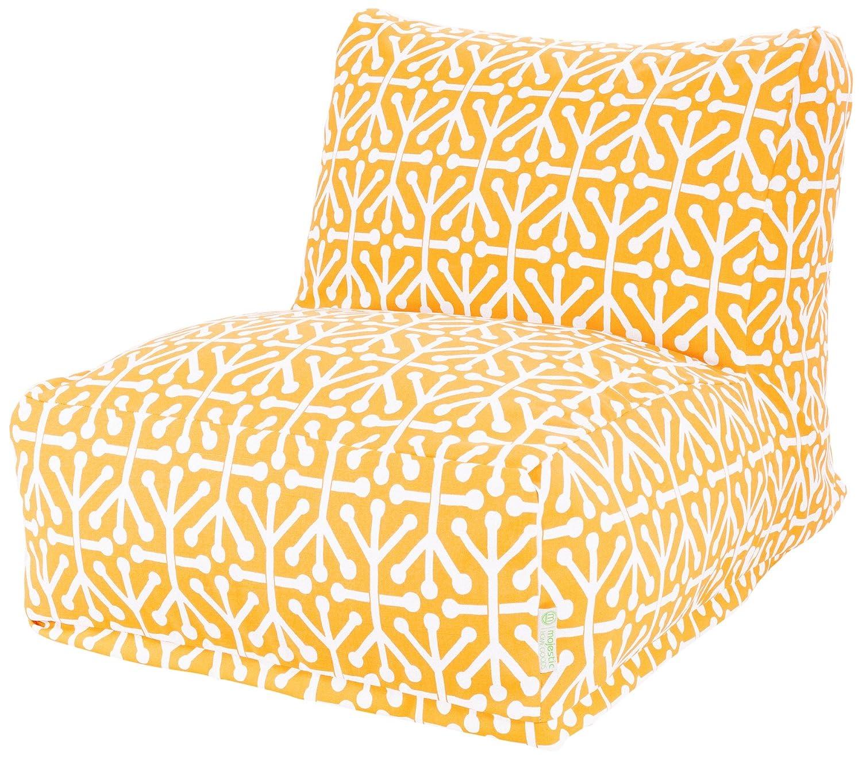 Amazon Majestic Home Goods Aruba Bean Bag Chair Lounger Citrus Ottoman Garden Outdoor
