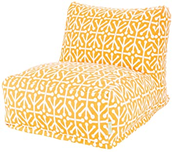 Majestic Home Goods Aruba Bean Bag Chair Lounger Citrus