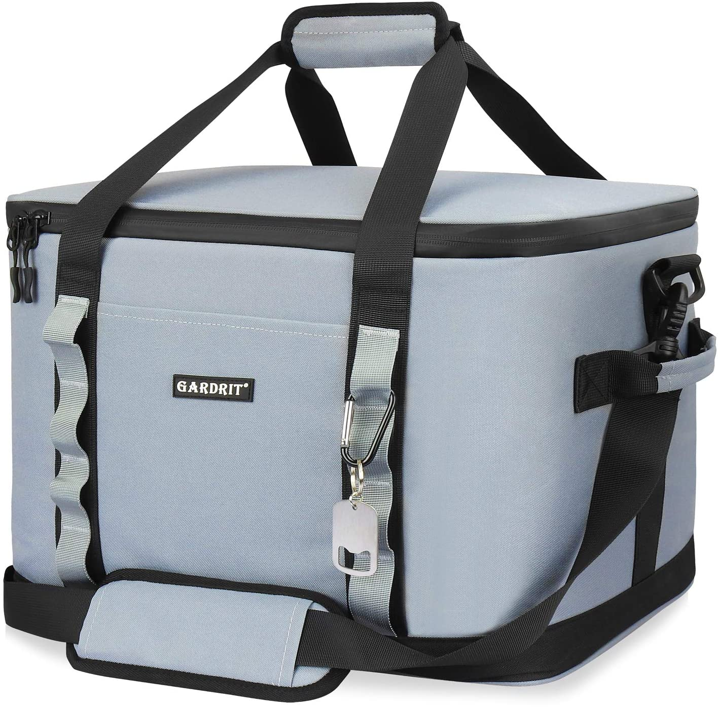 GARDRIT 60 Can Large Cooler Bag Leakproof Cooler Bag Suitable for Camping 39L//Grey Picnic/& Beach Collapsible Insulated Lunch Box