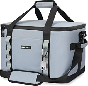 GARDRIT 60 Can Large Cooler Bag - Collapsible Insulated Lunch Box, Leakproof Cooler Bag Suitable for Camping, Picnic& Beach (39L/Grey)
