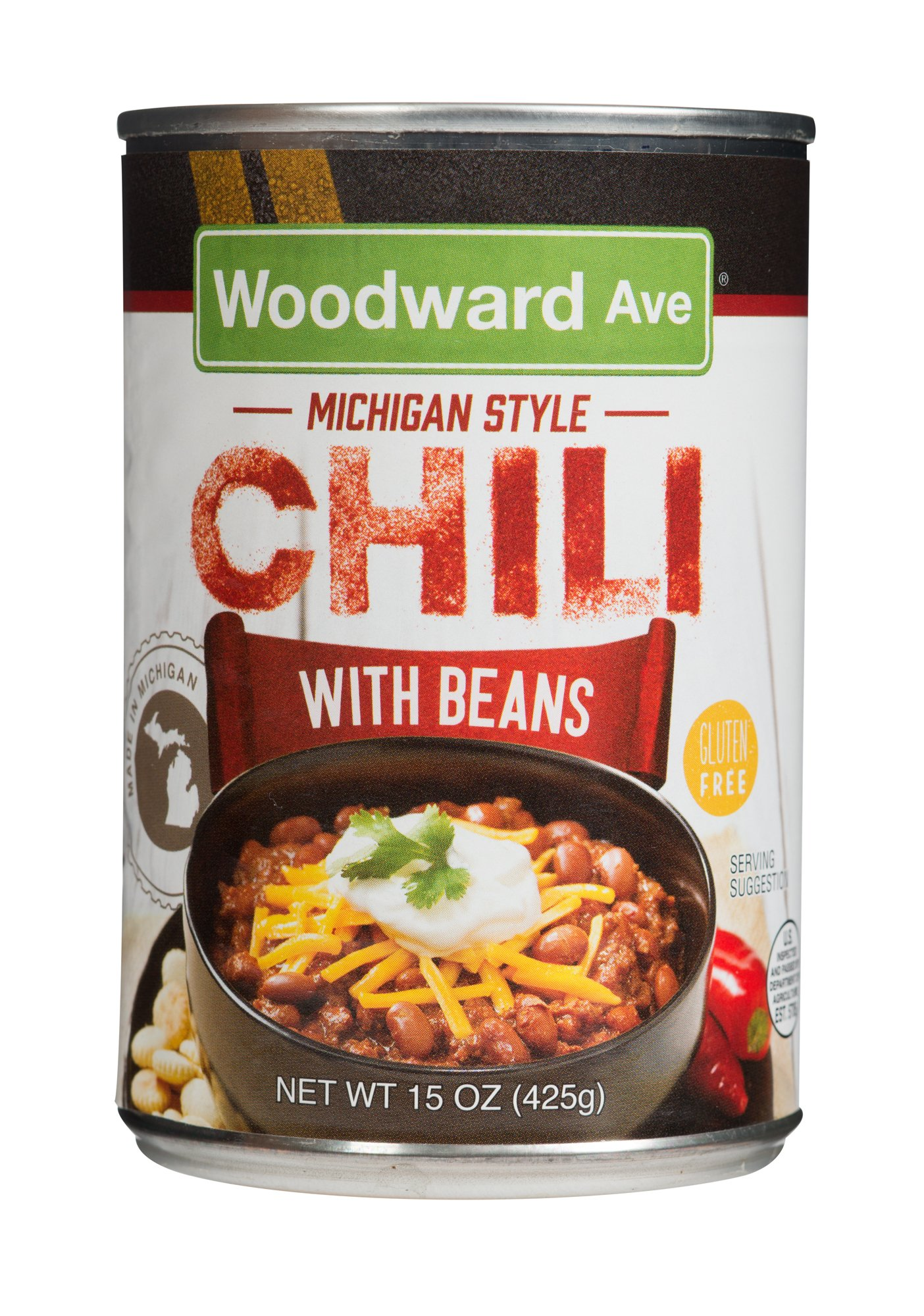 Woodward Ave Chili With Beans, Chili, 15 Ounce (Pack of 12)