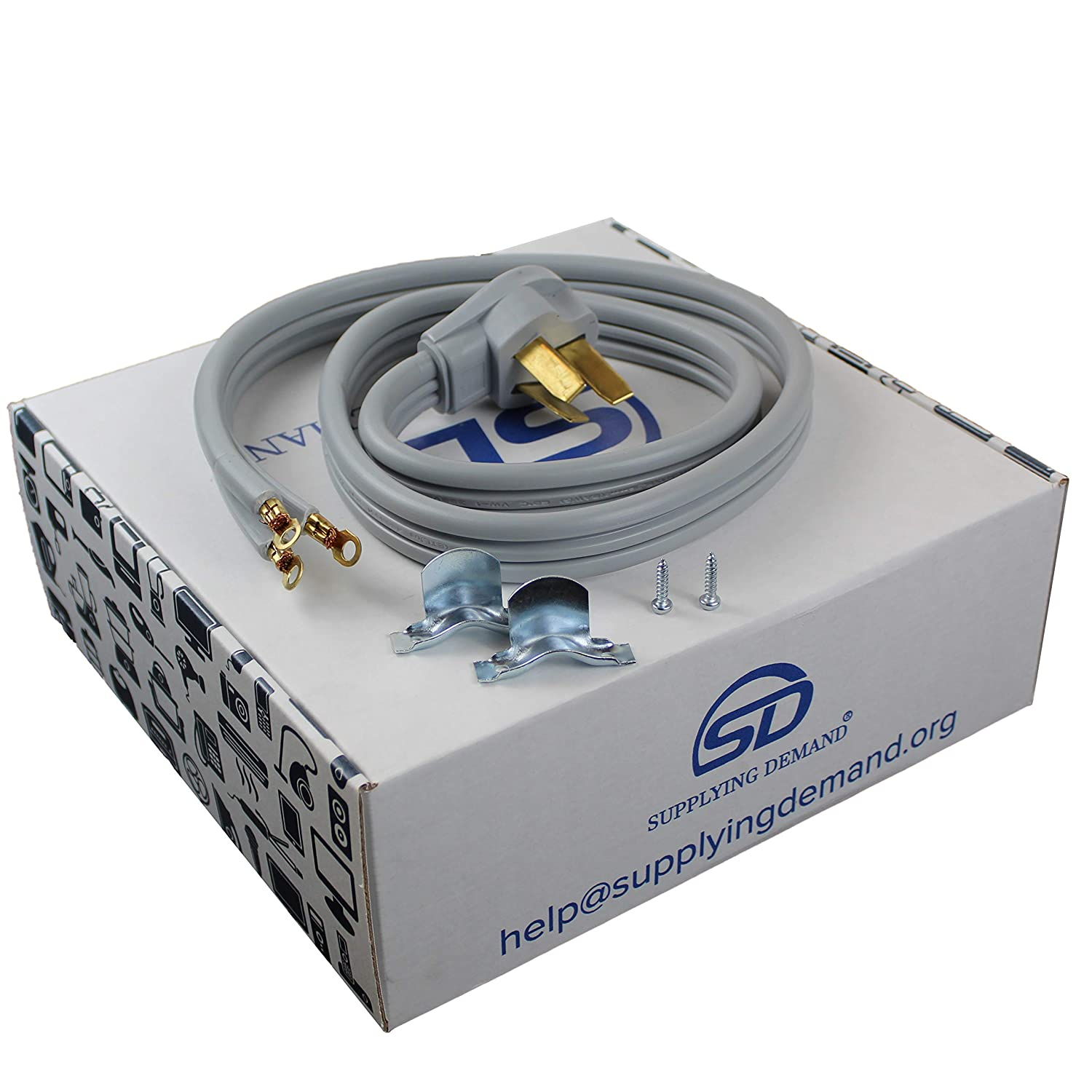Samsung Supplying Demand 3 Wire Range Oven Cord 50-AMP 250 Volts 8 AWG Wire Compatible With GE 5 Foot LG Frigidaire Whirlpool