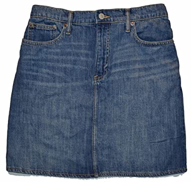 11e0ff108 GAP Womens Blue Denim Mini Pencil Jean Skirt 25/0 at Amazon Women's ...