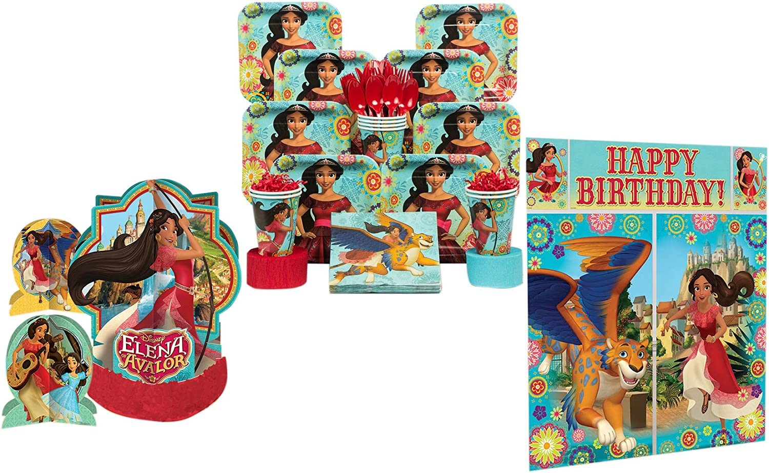 "8 Disney Princess Elena of Avalor Birthday Party 9/"" Square Paper Lunch Plates"