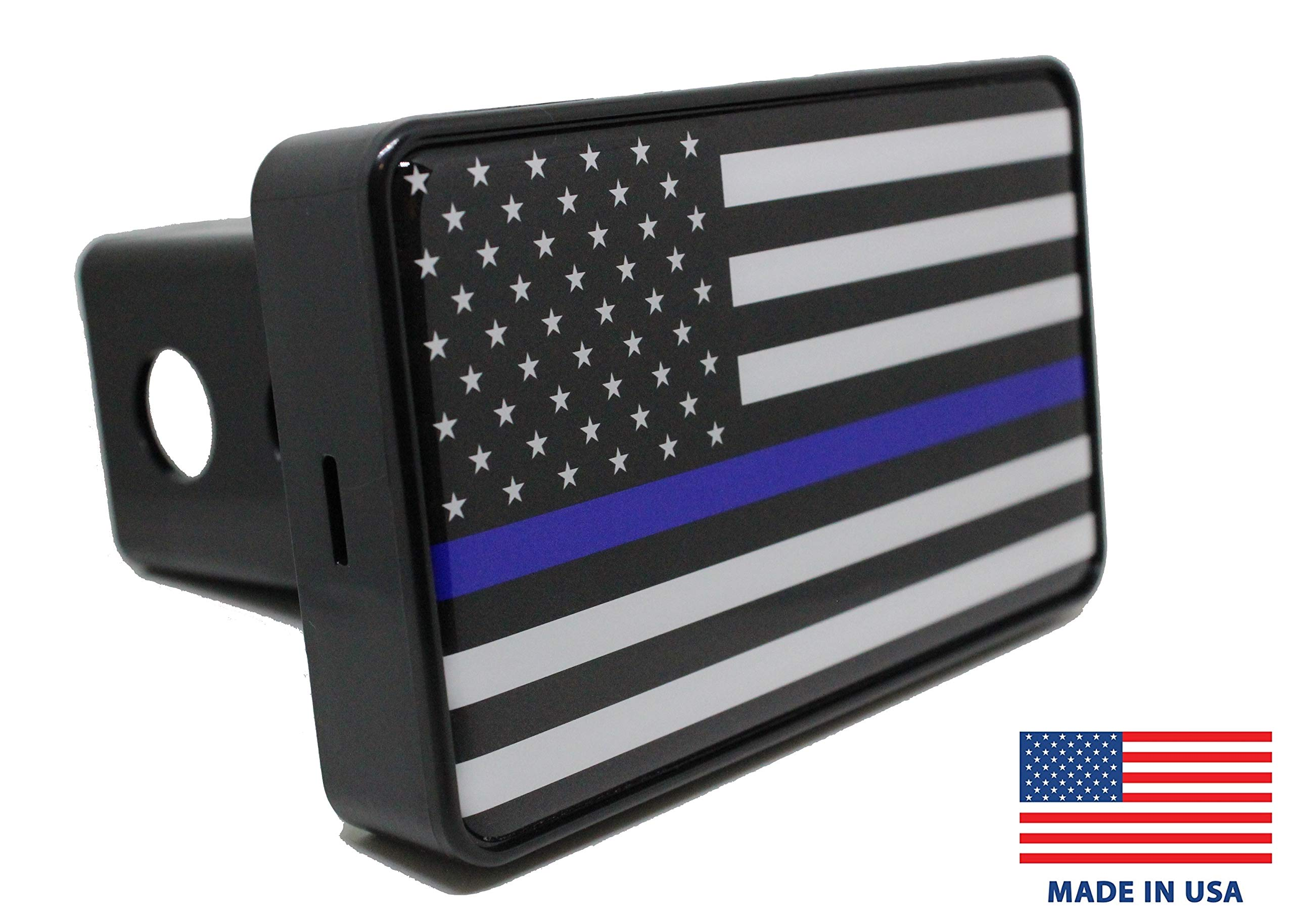 Bright Hitch - Thin Blue Line American Flag Hitch Cover by Bright Hitch