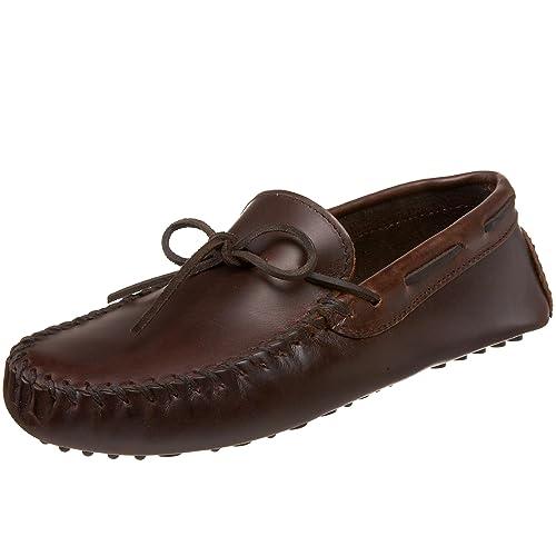 Minnetonka - Mocasines de Cuero para Hombre: Amazon.es: Zapatos y complementos