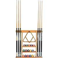 Flintar Wall Cue Rack, Stylish Premium Billiard Pool Cue Stick holder, Made of Solid Hardwood, New Improved Wall…