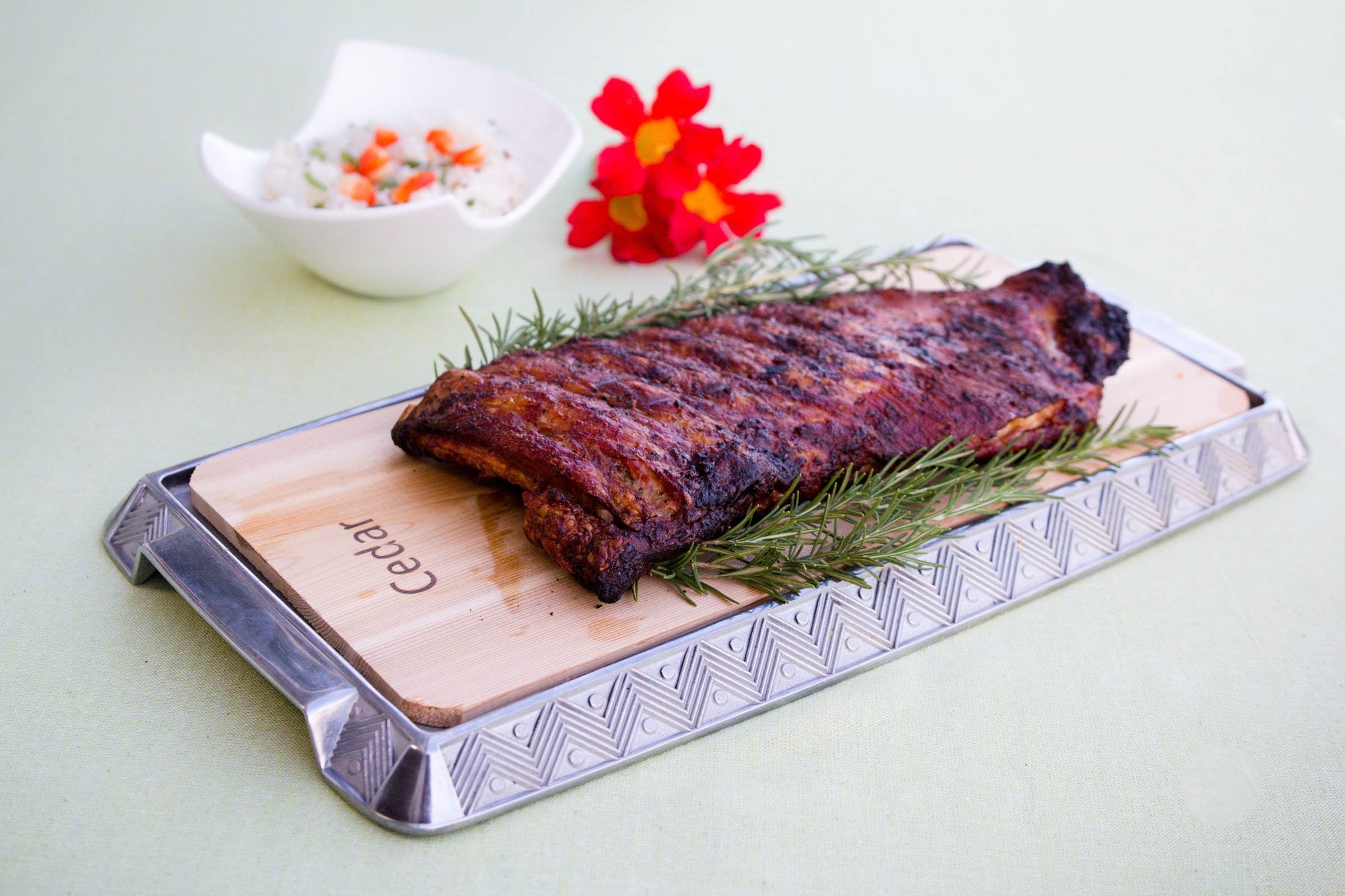 Coastal Cuisine 14 Pack 7x16'' Cedar Grilling Planks + Aluminum Serving Platter – Perfect for any grilling enthusiast.  Enjoy delicious restaurant quality meals and a stunning presentation. by Coastal Cuisine (Image #8)