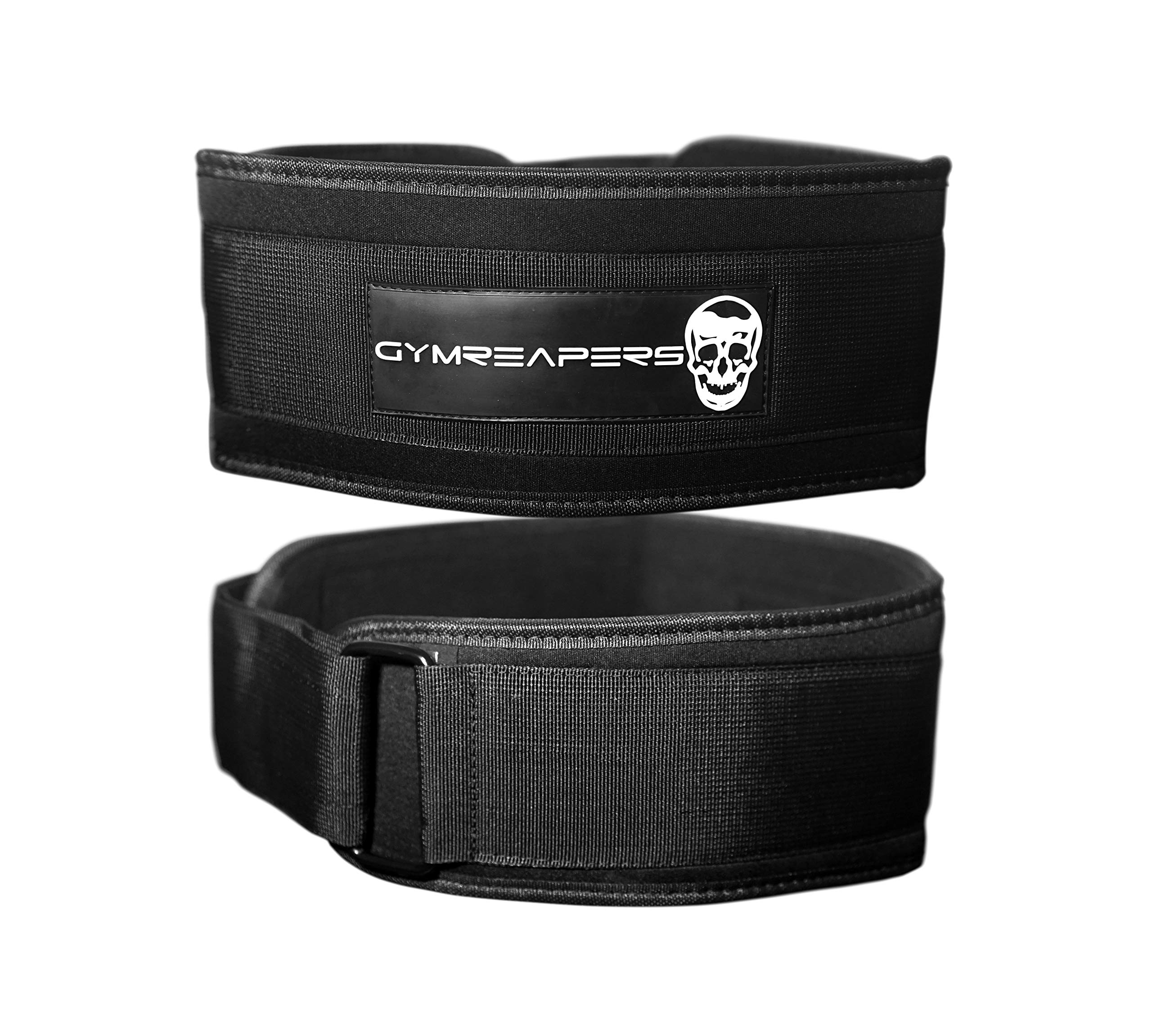 Gymreapers Crossfit Nylon Weightlifting Belt (Black, Small)