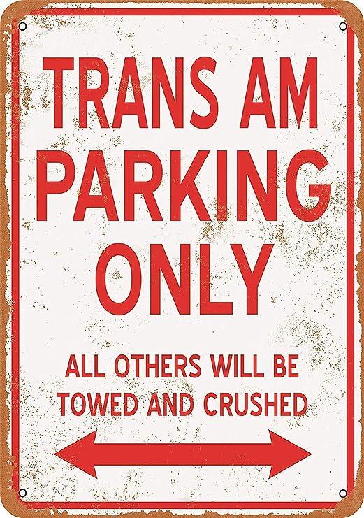 Amazon.com: Mariner Trans AM Parking ONLY Aluminum Funny ...