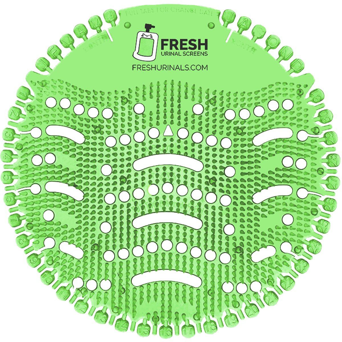 Urinal Screen Deodorizer 10 Pack - Scent Lasts for Up to 5000 Flushes – Anti-Splash & Odor Neutralizer – Ideal for Bathrooms, Restrooms, Office, Restaurants, Schools – Green Mint Fragrance by Fresh Urinal Screens