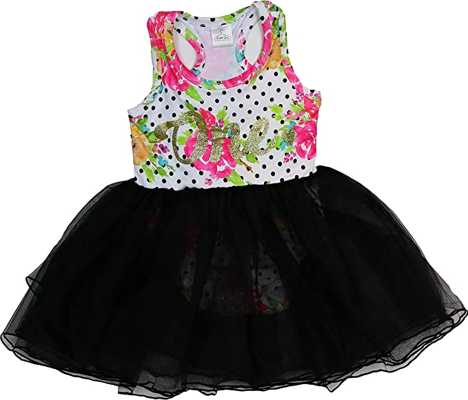 Amazon.com: Vestido de primer cumpleaños para niña, bebé ...