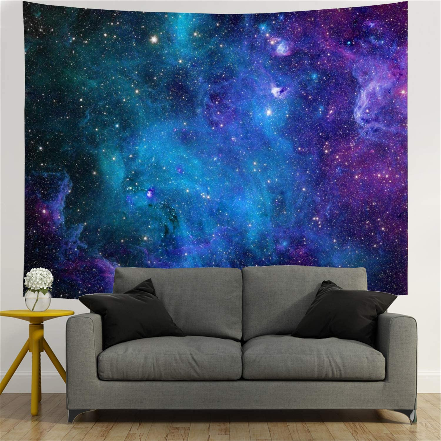 Starry Sky Wall Hanging Tapestry 3D Printing Art Tapestry for Living Room Bedroom Dorm Decor-150x130CM GZGZADMC Galaxy Wall Hanging Tapestry Outer Space Polyester Tapestries