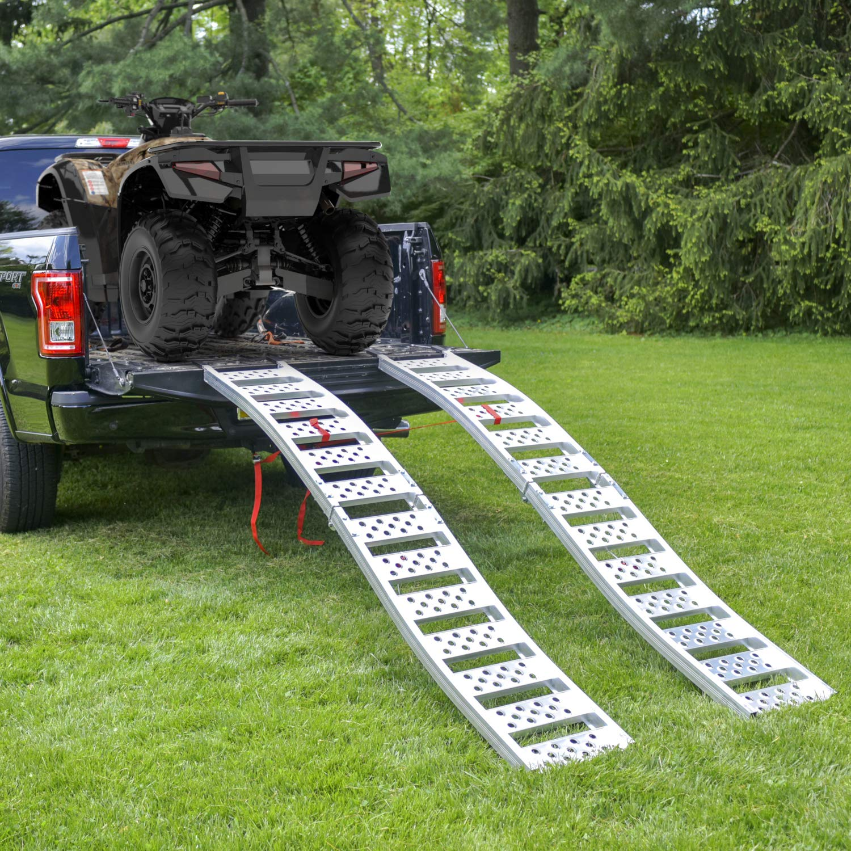 "EmpireCovers /""Tru-Grip/"" Dual Curved Aluminum Folding ATV//UTV Ramp"