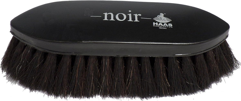 Haas brosse pour les chevaux Noir avec 5 cm de long brosse de crin taille extra large 21,5 x 6,5 cm