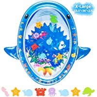 Tummy Time Baby Water Mat, Infant Toys Unique Shark Shape Infant Baby Toys 3 6 9 12 Months&up Toddlers Fun Activity Play Center for Newborn Boys Girls Growth Brain Development ( X-Large 36''33.5'')