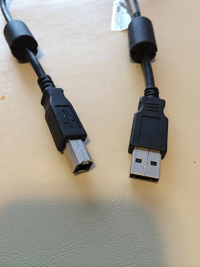 50ft USB 2.0 Extension /& 10ft A Male//B Male Cable for HP LaserJet Enterprise P3015n Printer CE527A#ABA Printer