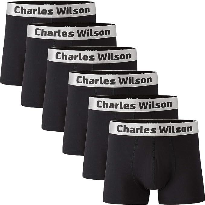 Charles Wilson Calzoncillo Bóxer de Hombre 6 Unidades (Small ...