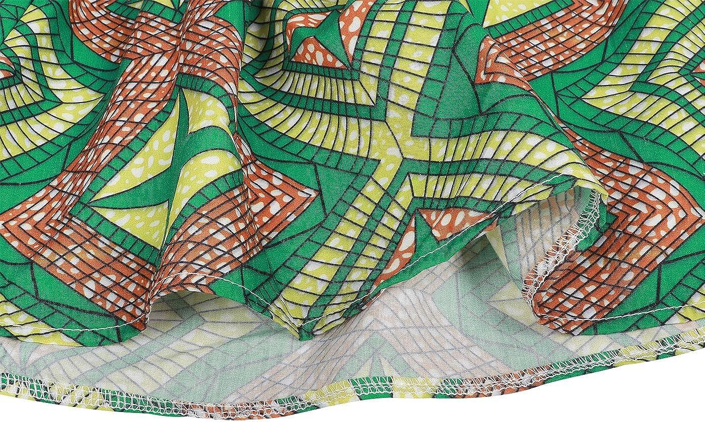 Headband 2Pcs Sets Edjude Toddler Baby Girls Dashiki Printed Clothing Sets African Ethnic Style Outfit Tradition Short Skirt