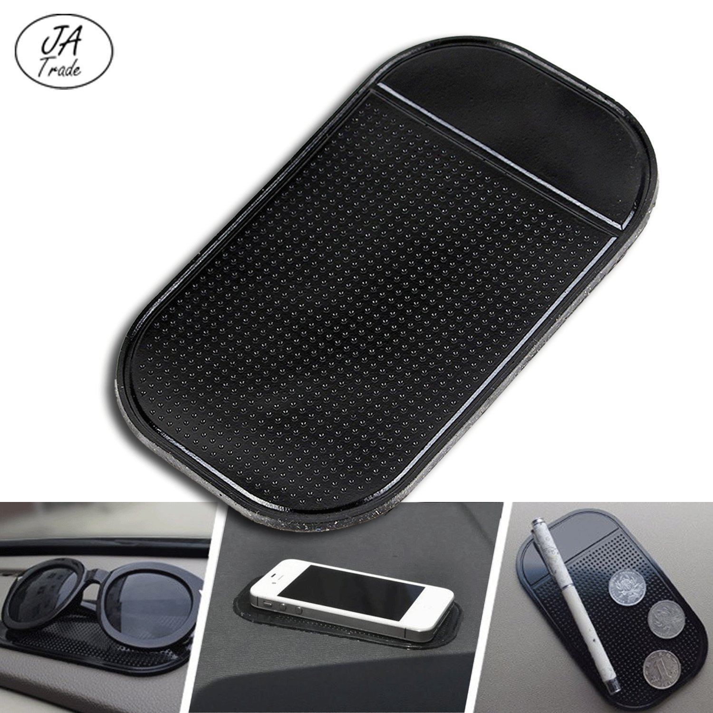 JATrade Handy Smartphone Auto Halterung Premium Antirutschmatte mit starker Haftung KlebeMatte Haftmatte Armaturenbrett Kompatibel mit iPhone Schwarz Anderen Smartphones Galaxy u