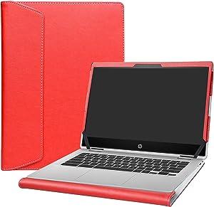 "Alapmk Protective Case Cover for 14"" HP Chromebook x360 14 14-daXXXX/14b 14b-caXXXX/Chromebook Enterprise x360 14E 14 G1/HP Chromebook 14 G6 Laptop[Note:Not fit HP Chromebook 14 G5/14-caXXX],Red"