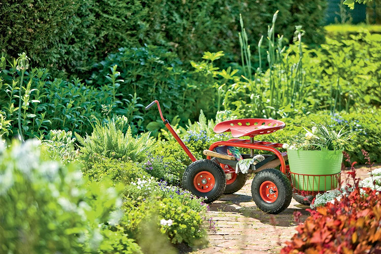 Amazon.com : Deluxe Tractor Scoot With Bucket Basket : Gardening Wagons :  Patio, Lawn U0026 Garden