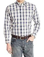 Wrangler Men's Wrinkle Resist Long Sleeve Western Shirt