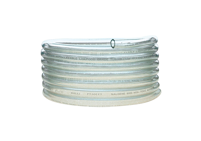 Nalgene 180 Clear PVC Tubing, 3/8'' I.D. x 1/2'' O.D. x 1/16'' Wall, 50' Length