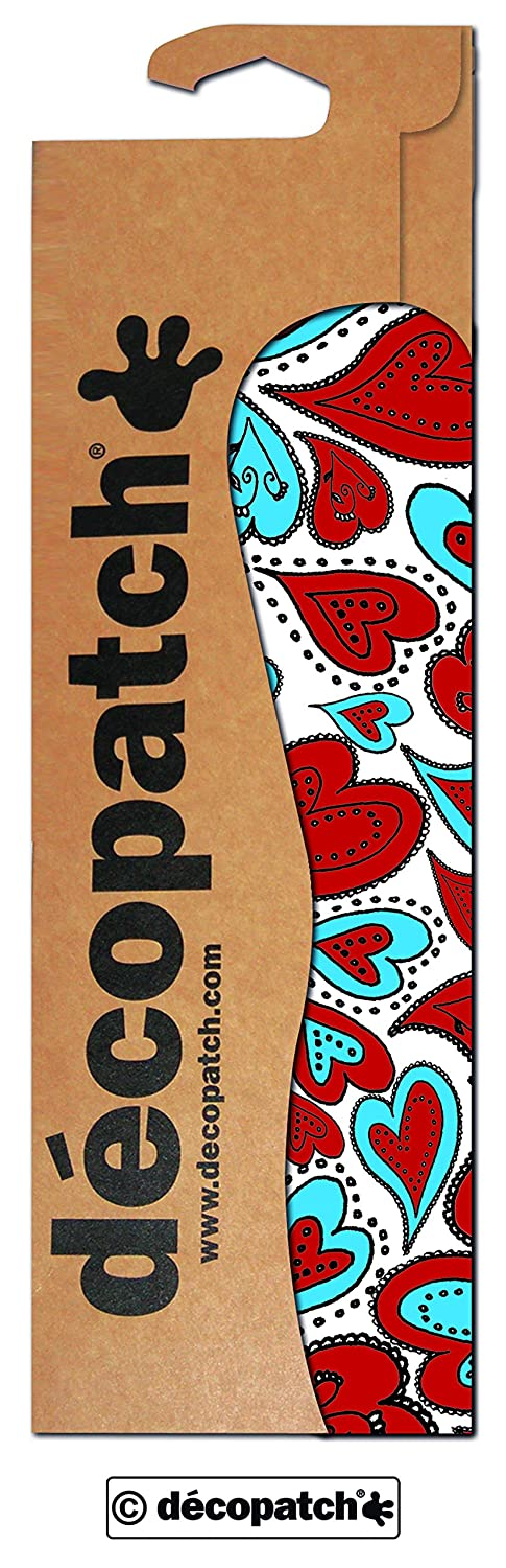 décopatch Hearts Paper, Assorted colours, 30 x 40 cm, Pack of 3 Sheets C567O