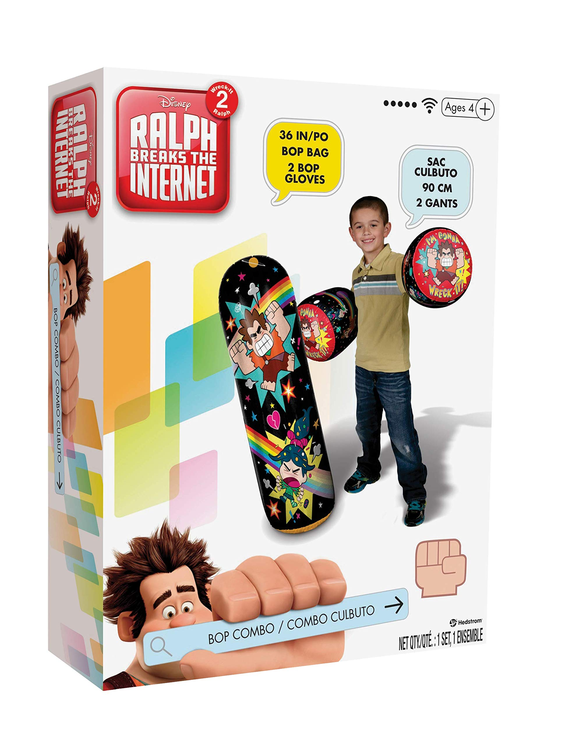 Hedstrom Wreck IT Ralph 2 36'' BOP Bag & Gloves Combo