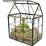 ElegantLife Succulent Terrarium,House Shape Handmade Succulent Pot  With Top Swing Lid Planter Case For Fern Moss, Cacti, Air