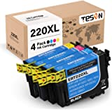 TESEN Remanufactured 220XL Ink Cartridge Replacement for Epson 220 220XL T220XL Use with Workforce WF-2760 WF-2750 WF-2630 WF