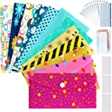 Cash Envelopes Plastic for Budget System - Money Envelopes for Budgeting and Saving, 12 Pack of Assorted Colors, Tear…