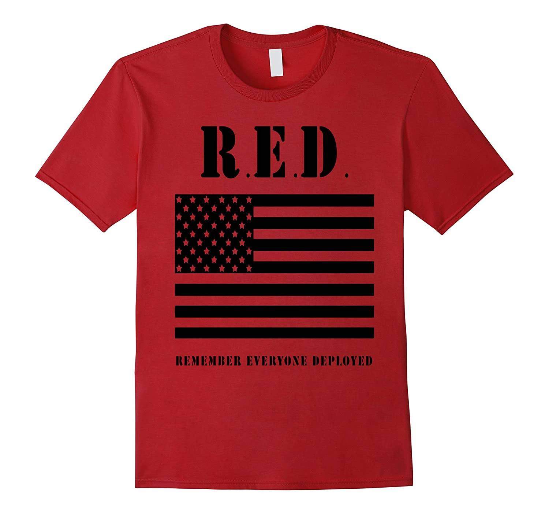 DeBran Shirts R E D Remember Everyone Deployed T-Shirt-RT