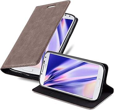 Cadorabo Funda Libro para Samsung Galaxy S4 Mini en MARRÓN CAFÉ ...