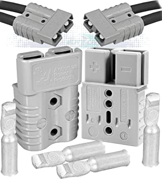 Battery Quick Connect 10pcs Kit 50A Wire Harness Plug Disconnect Winch Trailer