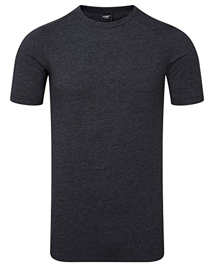 Cotton Traders Mens Short Sleeve Base Layer Casual Top Poly Soft Crew Neck  Medium Charcoal 5f7c9d7dc235