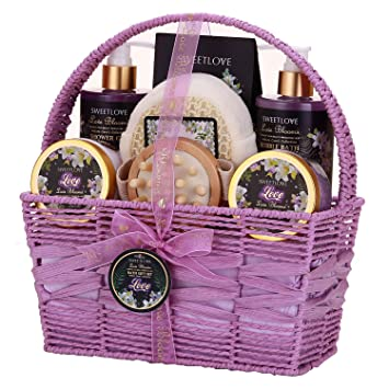 Spa Gift Basket For Women Bath And Body Set Her Luxury 8