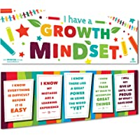 """Sproutbrite Classroom Banner Decorations for Educational & Motivational Growth Mindset for Students - 2 Banners - 13""""x39"""" Each"""