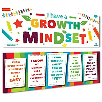 Sproutbrite Classroom Banner Decorations - Growth Mindset for Students