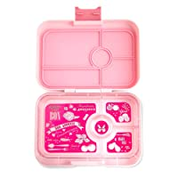 YUMBOX TAPAS Larger Size (Amalfi Pink) Leakproof Bento lunch box for Adults Teens & Pre-teens. Over 4 cups food volume.