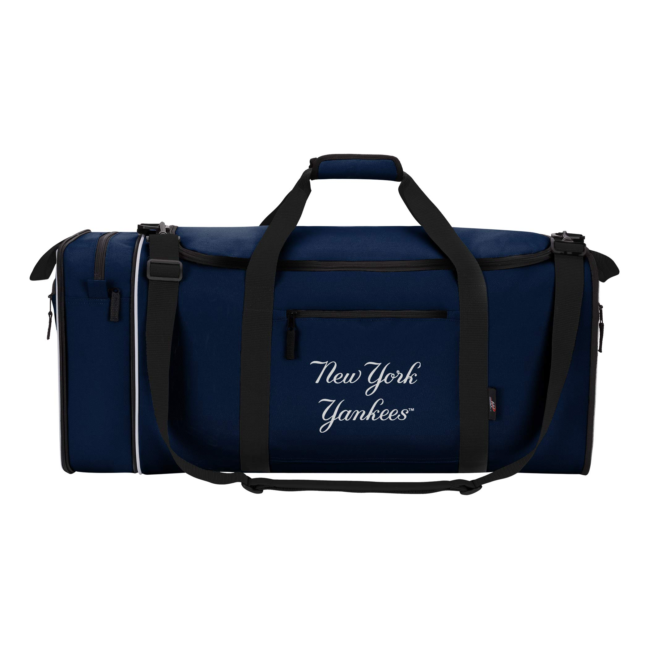 Concept One Accessories Officially Licensed MLB New York Yankees Steal Duffel bag, 28'' x 11'' x 12''