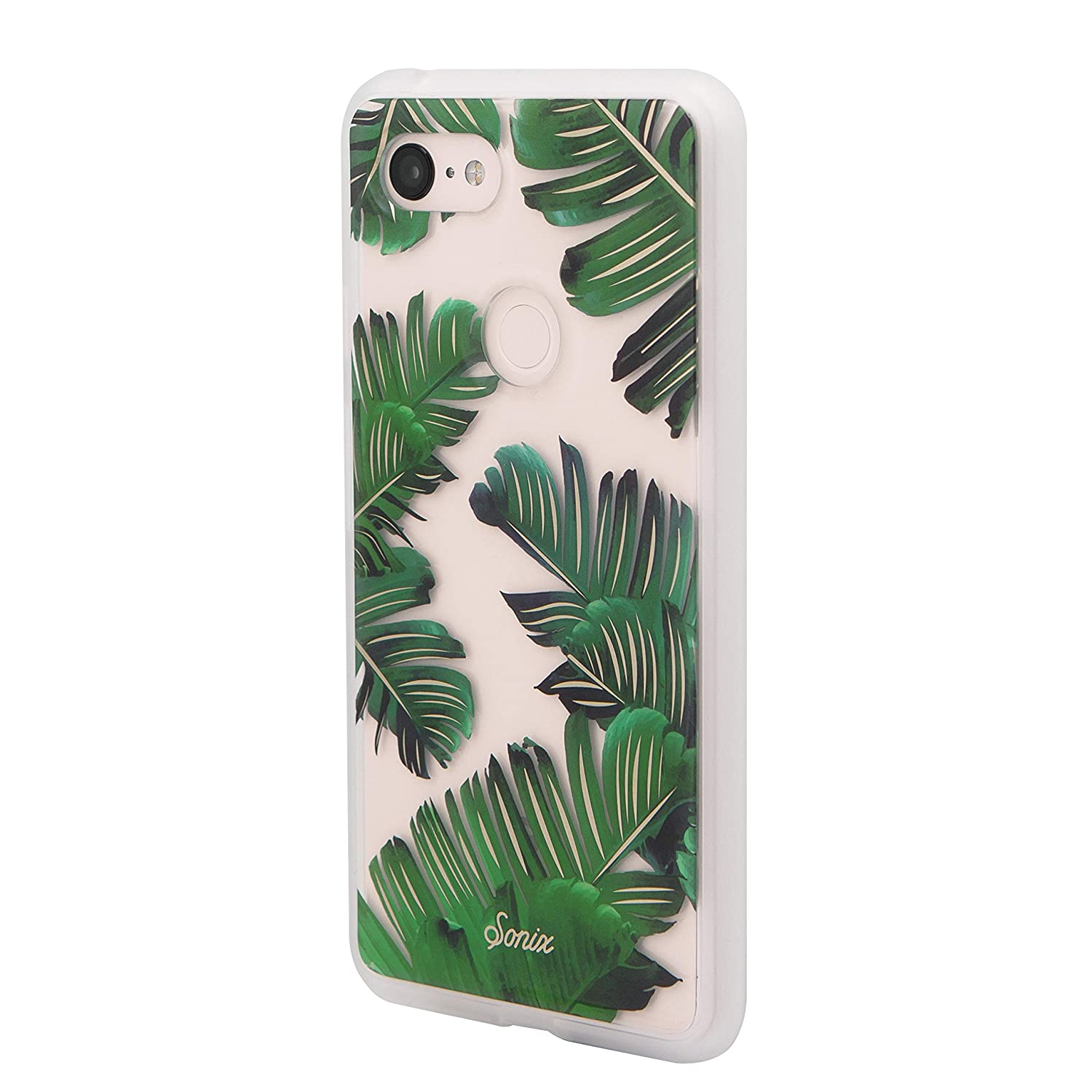 best service 67672 b3cf5 Sonix Bahama (Palm Leaf) Cell Phone Case [Military Drop Test Certified]  Women's Protective Clear Series for Google Pixel 3XL