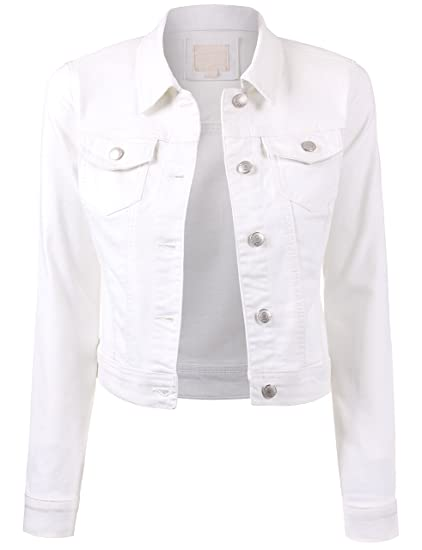 Bektome Womens Classic Casual Vintage Denim Jean Jacket At Amazon