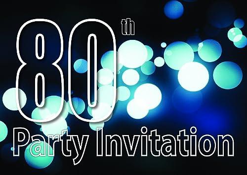 80 años Reversible Invitaciones de la fiesta de cumpleaños ...