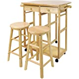 Amazon Com Winsome Space Saver With 2 Stools Square